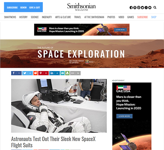 EXCLUSIVE SPONSORSHIP OF THE FUTURE OF SPACE EXPLORATION EDITORIAL HUB