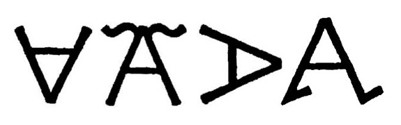 A few accepted variations on the letter A. From left to right: Crazy-A, Flying-A, Lazy-A, Walking-A