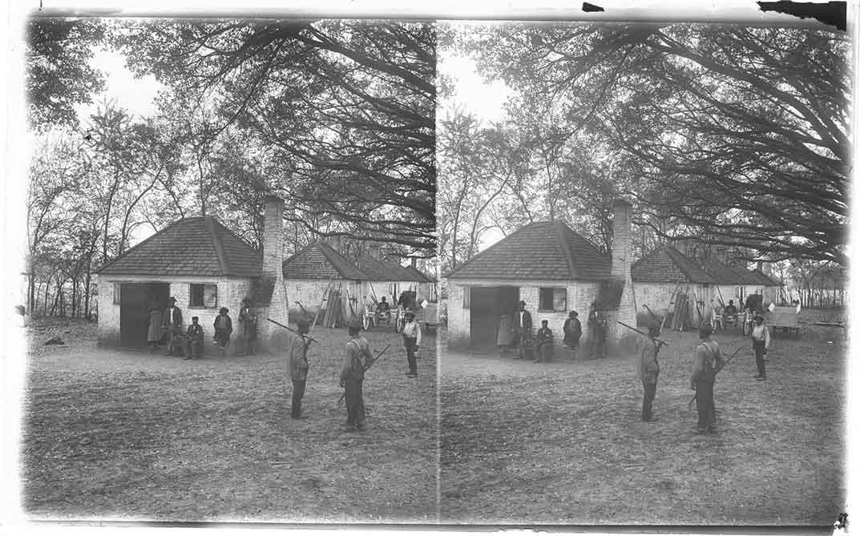 Cabins where slaves were raised for market, Hermitage, Savannah, Ga.