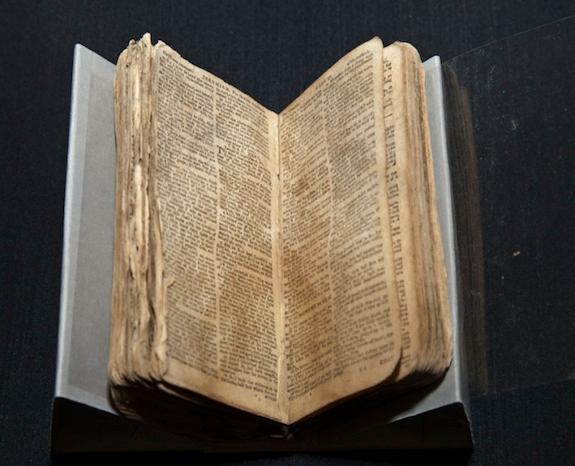 Rubenstein calls Nat Turner's bible a symbol of rebellion