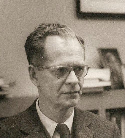 B.F. Skinner at the Harvard psychology department, circa 1950