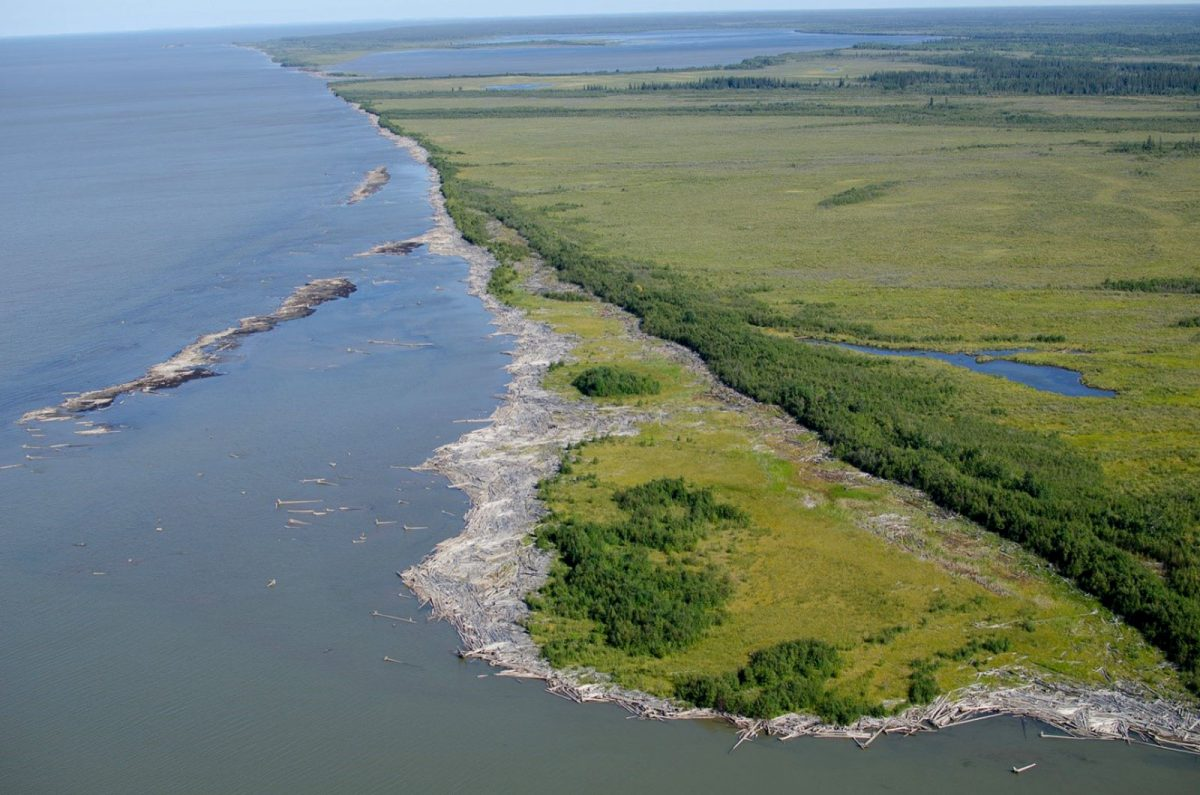 The Slave River's outer delta