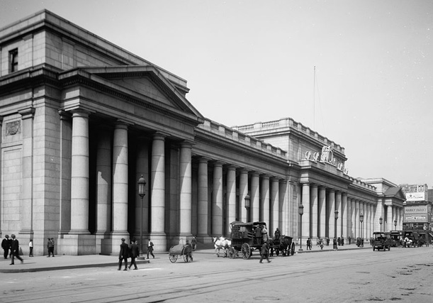 Pennsylvania Station, east facade, circa 1910