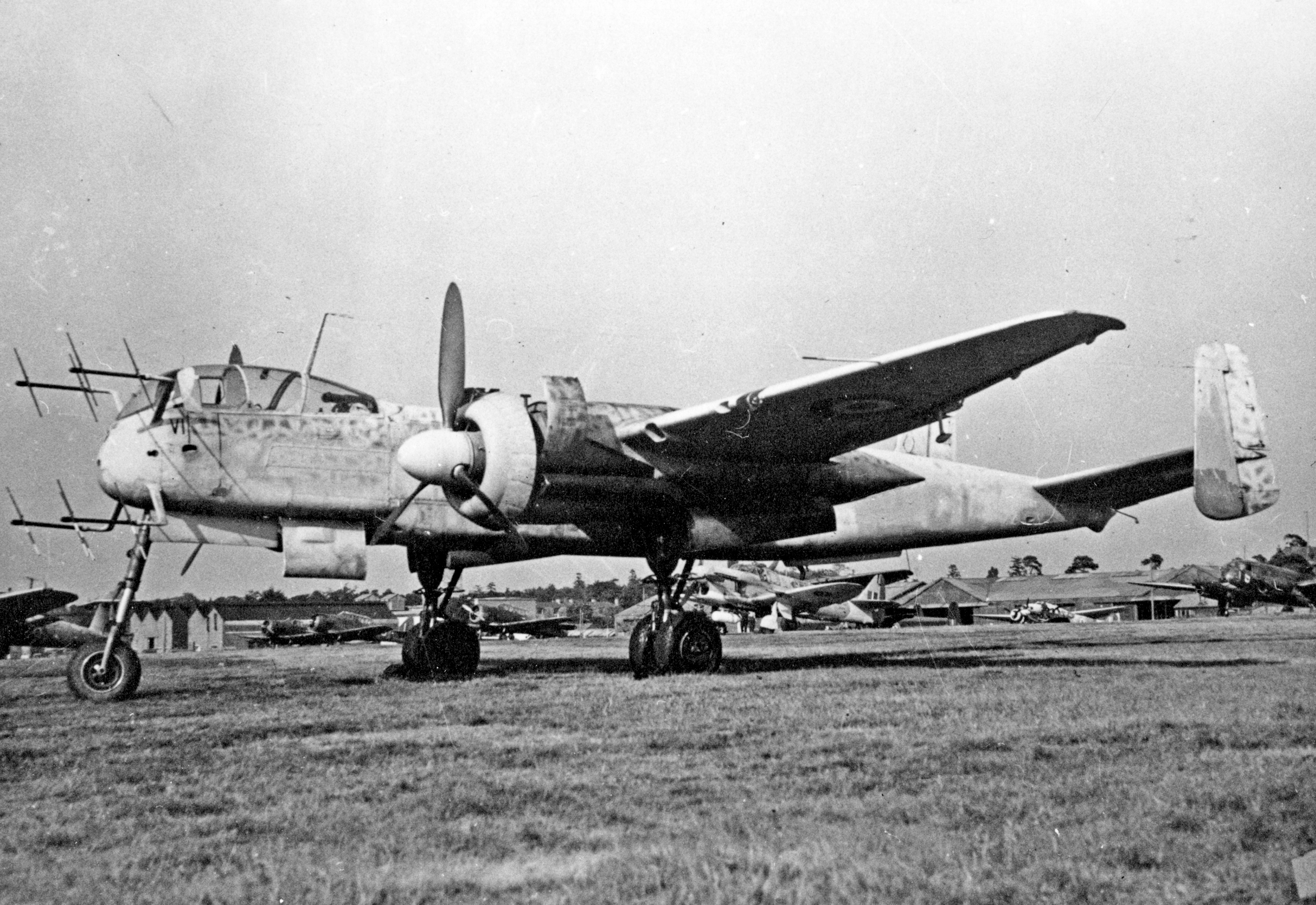 A British-captured Heinkel He 219