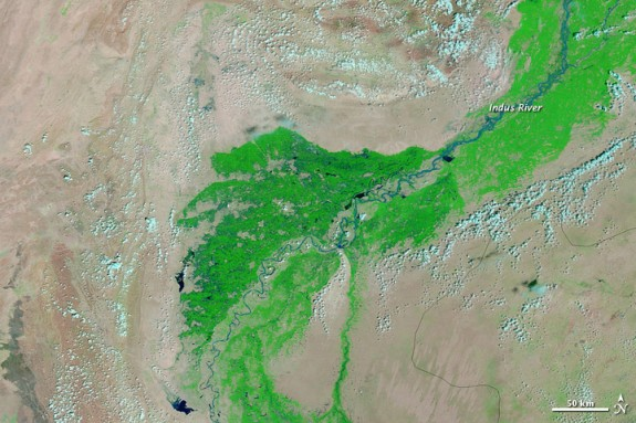 The Indus river as of September 1, 2012