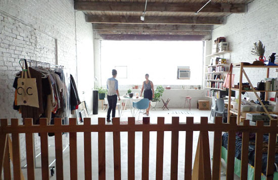 """The """"live"""" part of ODLCO's live/work space, still in progress"""