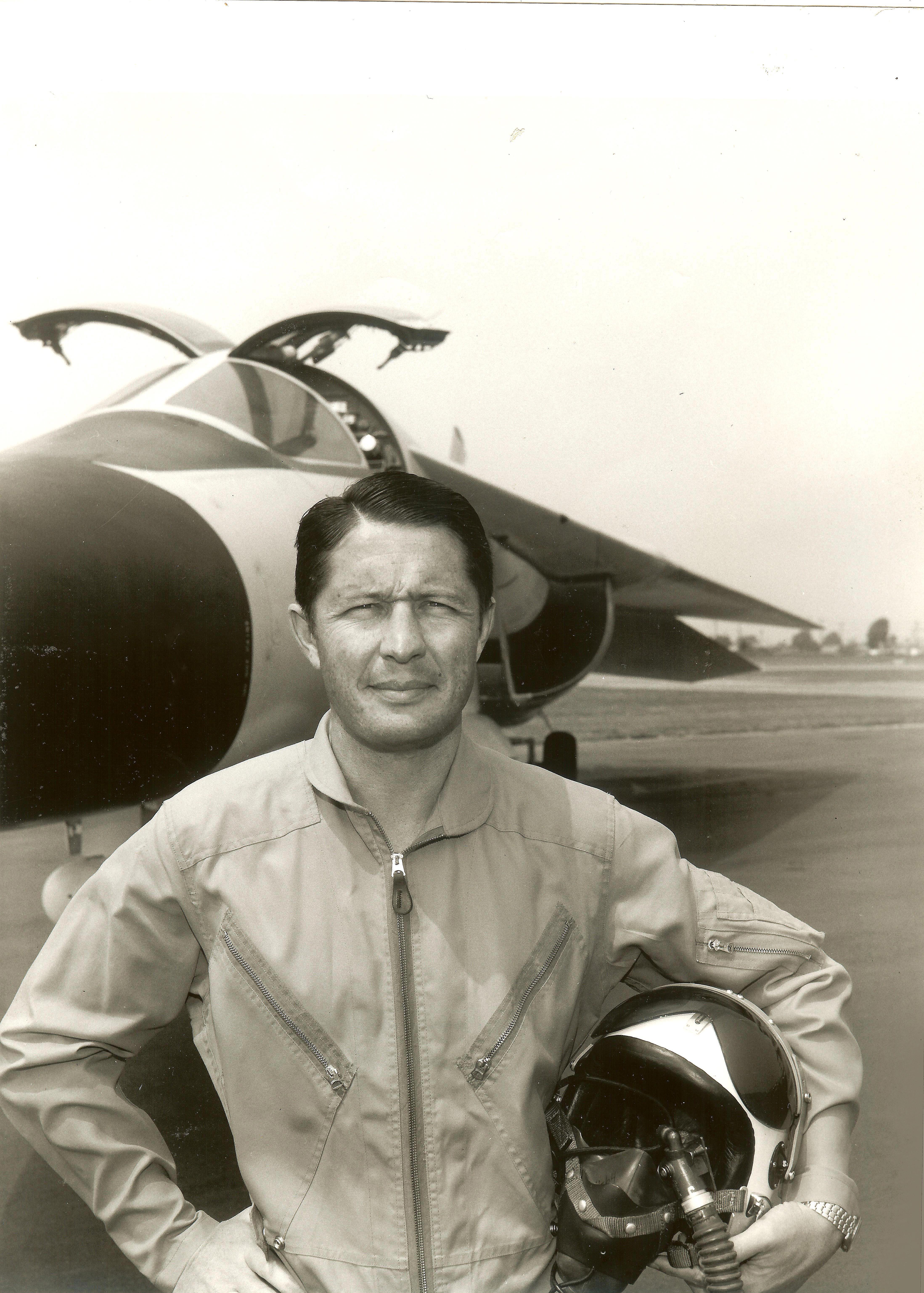 Test pilot George Marrett