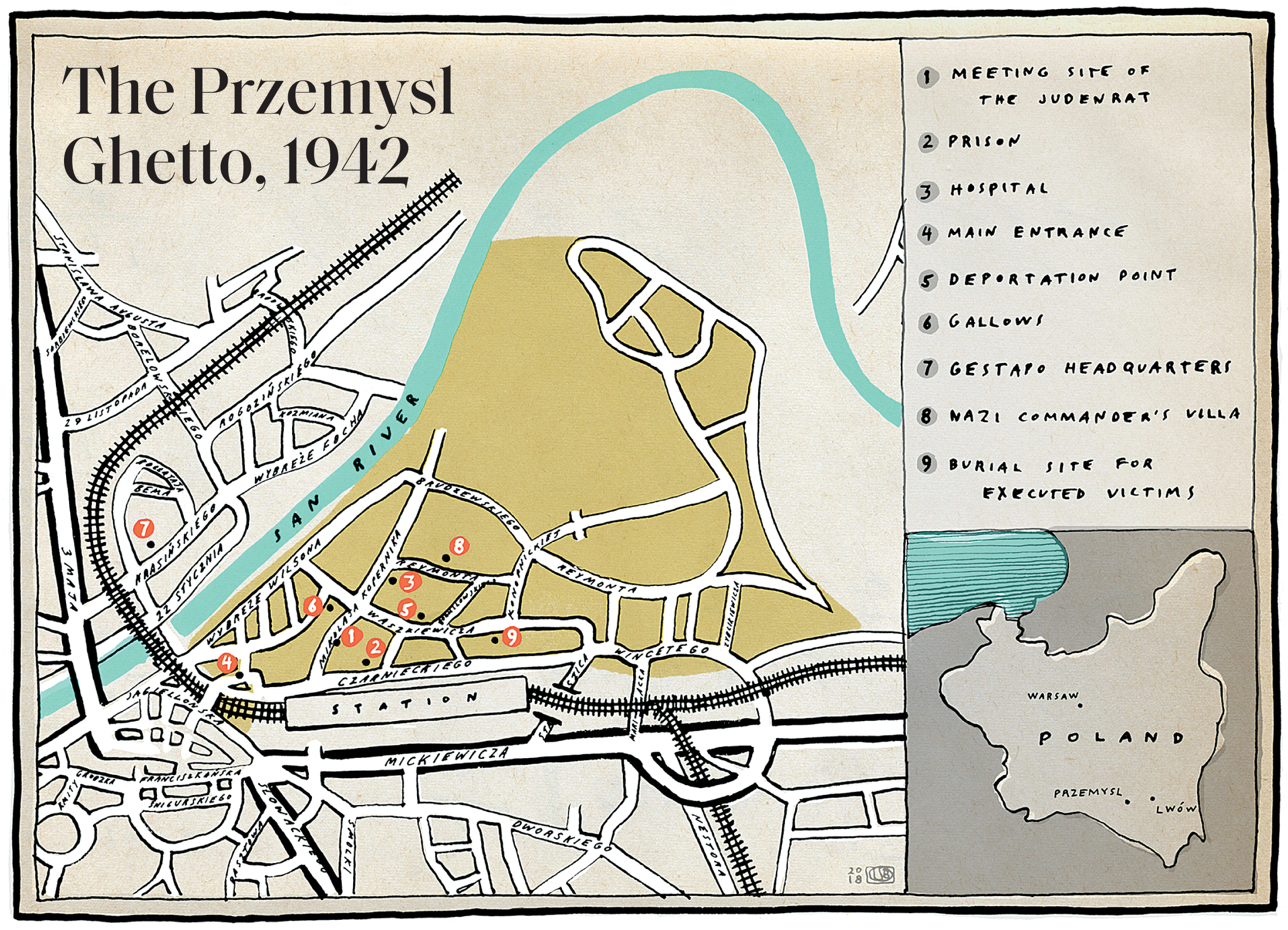 Map of Przemsyl Ghetto, 1942