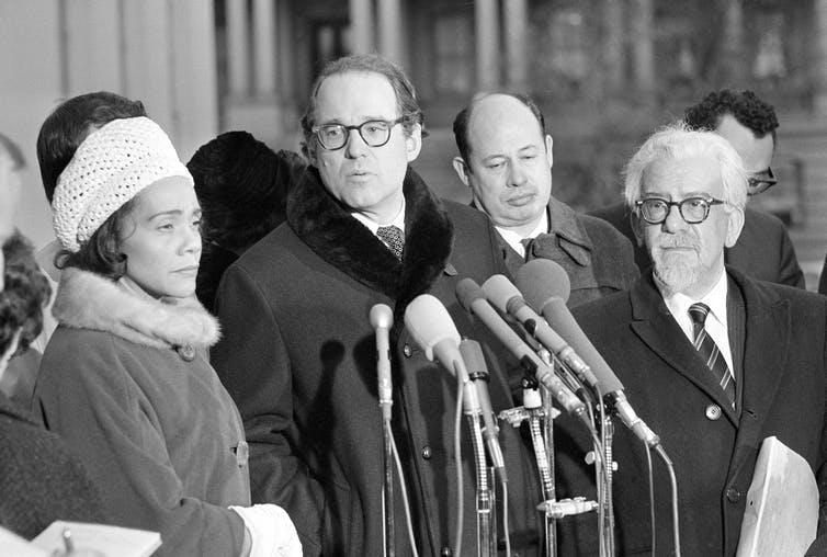 Rev. William Sloane Coffin Jr. with Coretta Scott King, widow of Dr. Martin Luther King Jr.