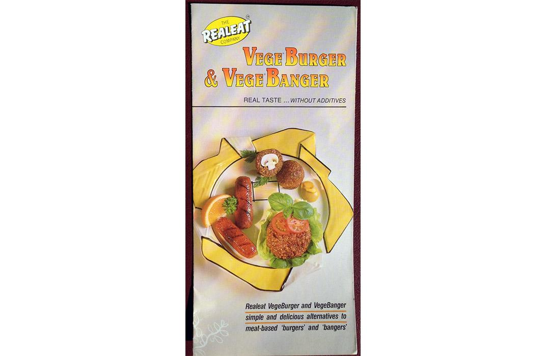 VegeBurger recipe leaflet