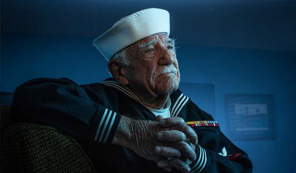 After joining the Navy at age 17, Anthony D'Acquisto served aboard the U.S.S. Randolph, participating in the Battles of Okinawa and Iwo Jima.