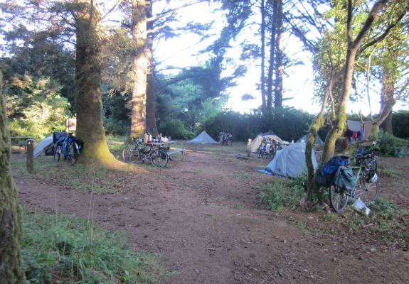 The hiker/biker campsite at Harris Beach State Park