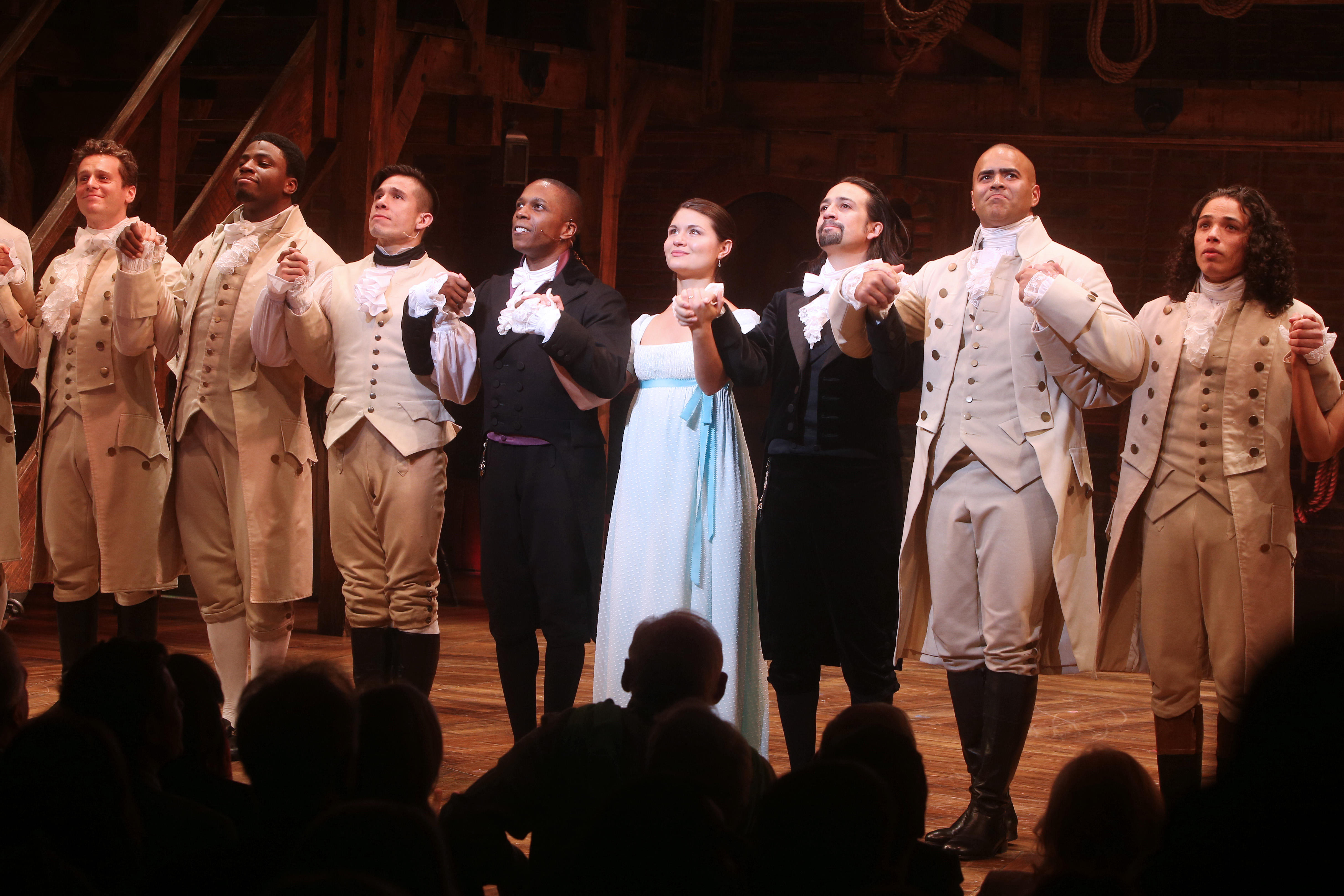 Opening night of the Broadway musical 'Hamilton' at the Richard Rodgers Theatre