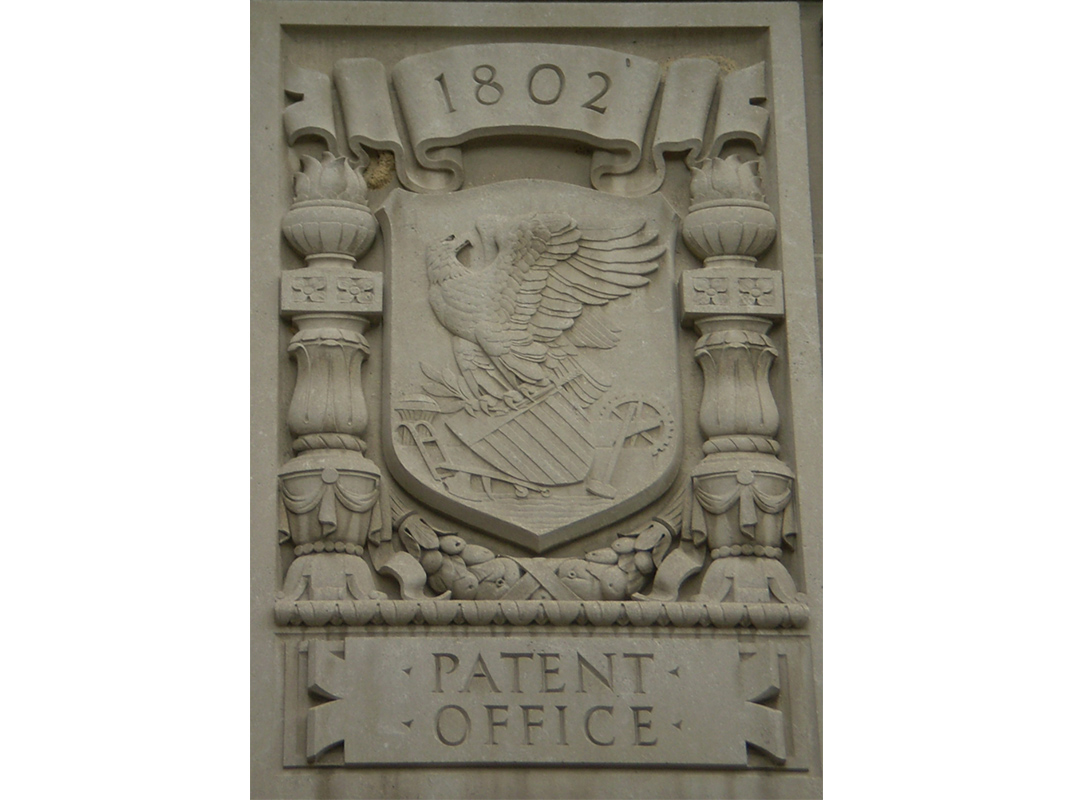 Patent Office relief on the Herbert C. Hoover Building