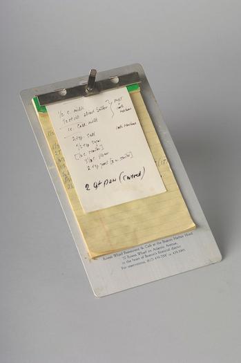 Julia Child's handwritten recipe