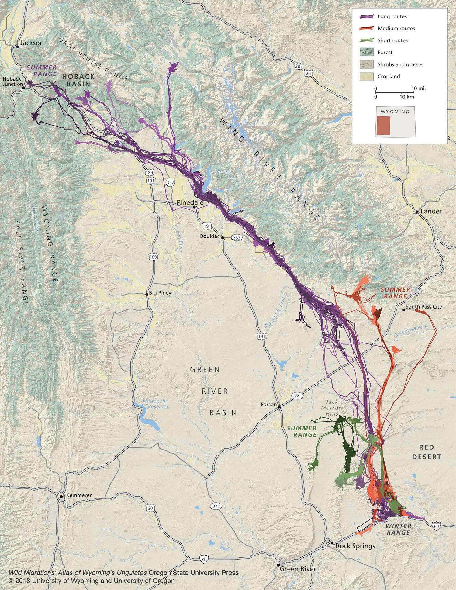 Mule Deer Migration Map