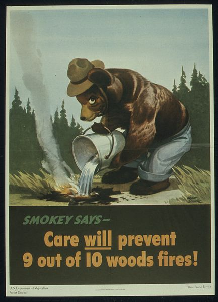 The original Smokey the Bear ad