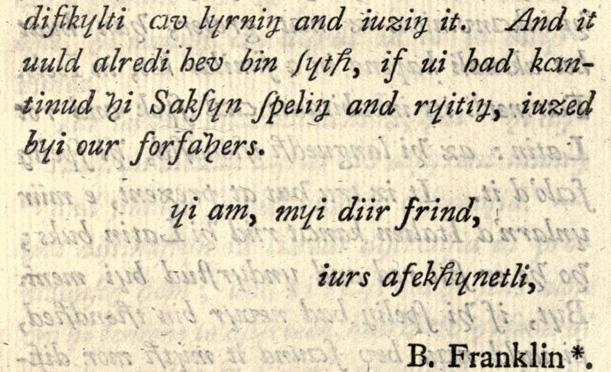 The end of Franklin's letter to Stevenson
