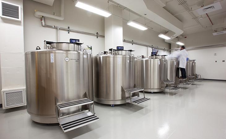 cryogenic tanks filled with liquid nitrogen