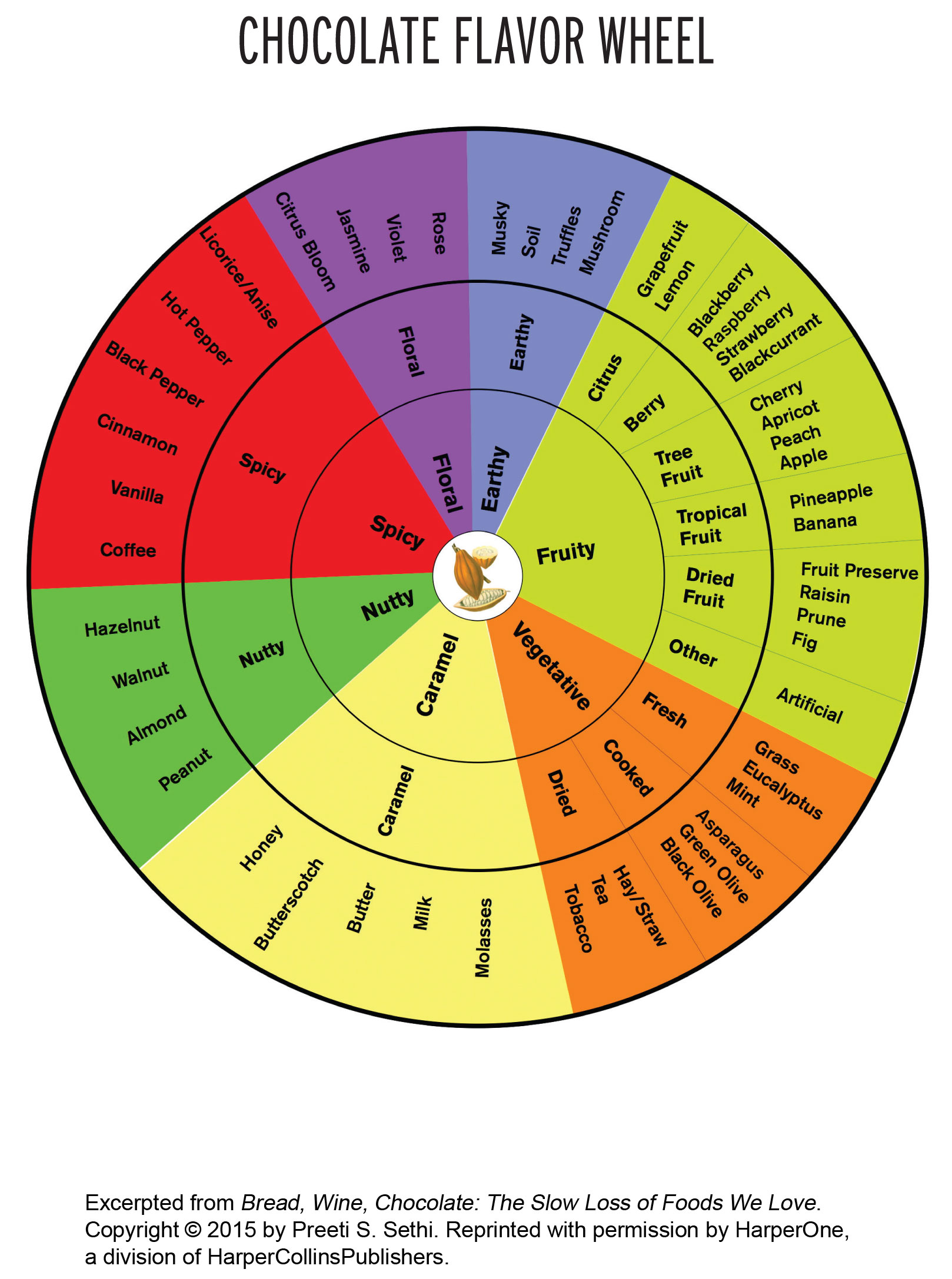 Chocolate Flavor Wheel