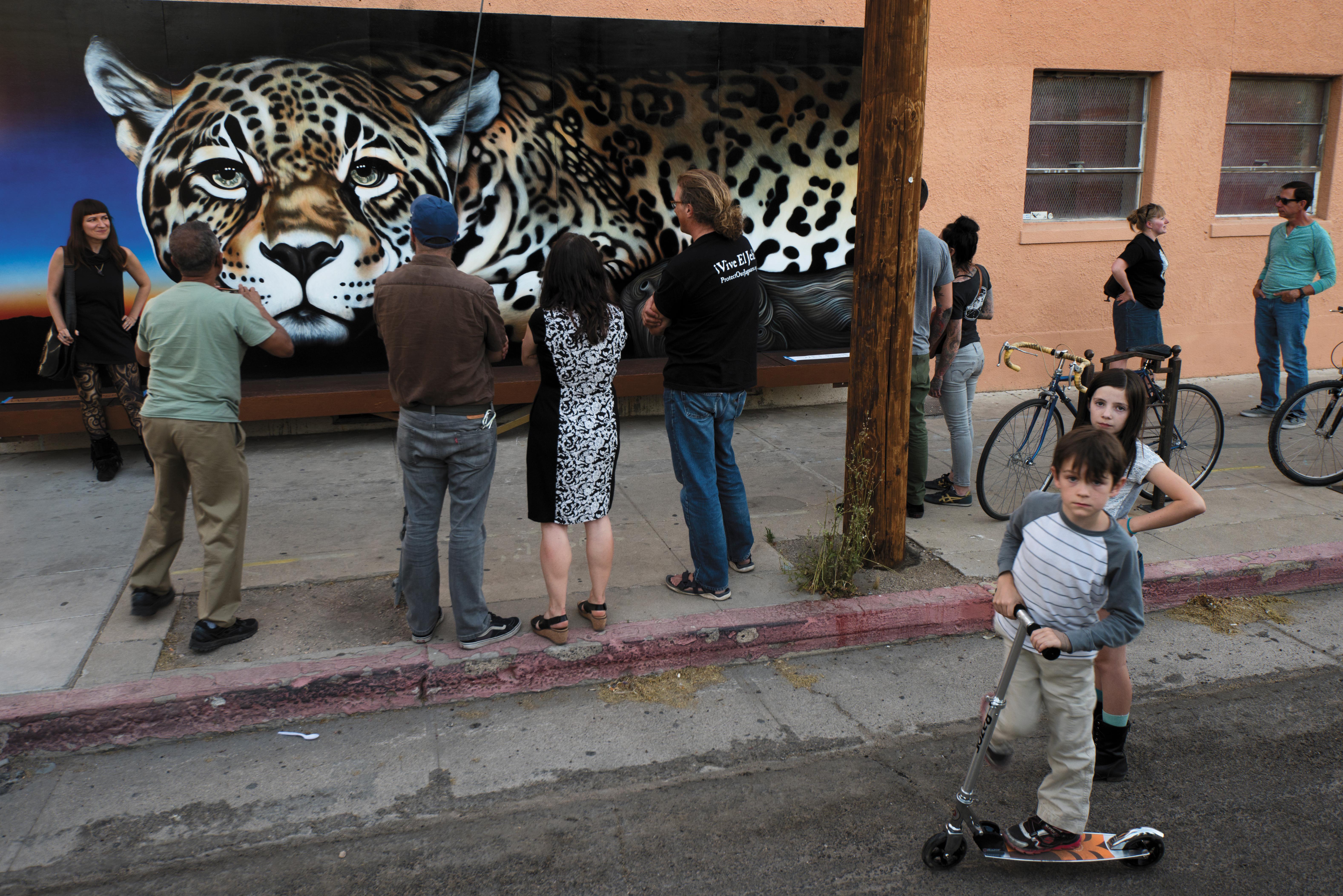 Kati Astaeir's mural of El Jefe