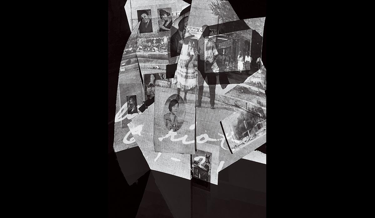 Artist Aaron R. Turner shaped these historic images of black Tulsa residents into three-dimensional forms and then photographed them.