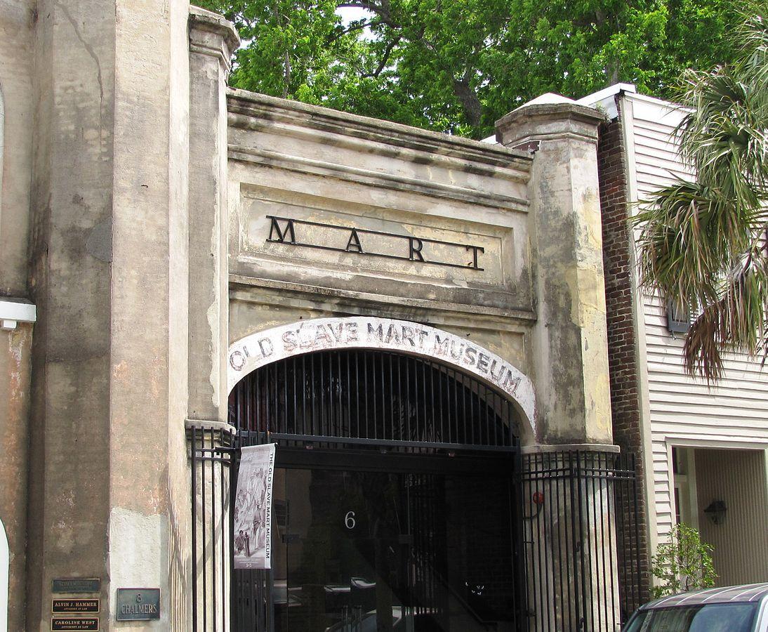 Facade of the Old Slave Mart in Charleston, South Carolina