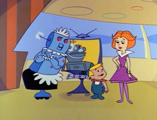 Rosey the robot and her boyfriend enjoy a videophone romance (1962)