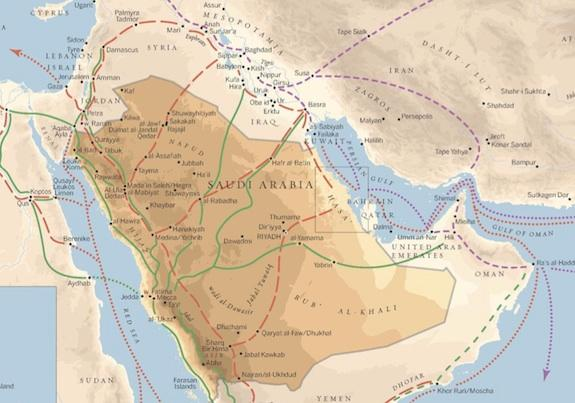 Map of diverging migration routes