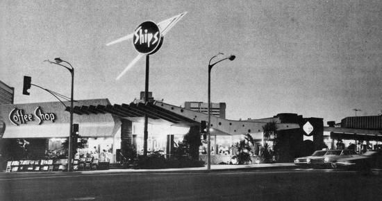 Ship's on Wilshire Boulevard in Los Angeles (1958)