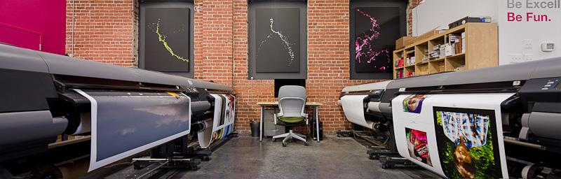 DNA 11 prints its canvas portraits on large-format Canon printers.