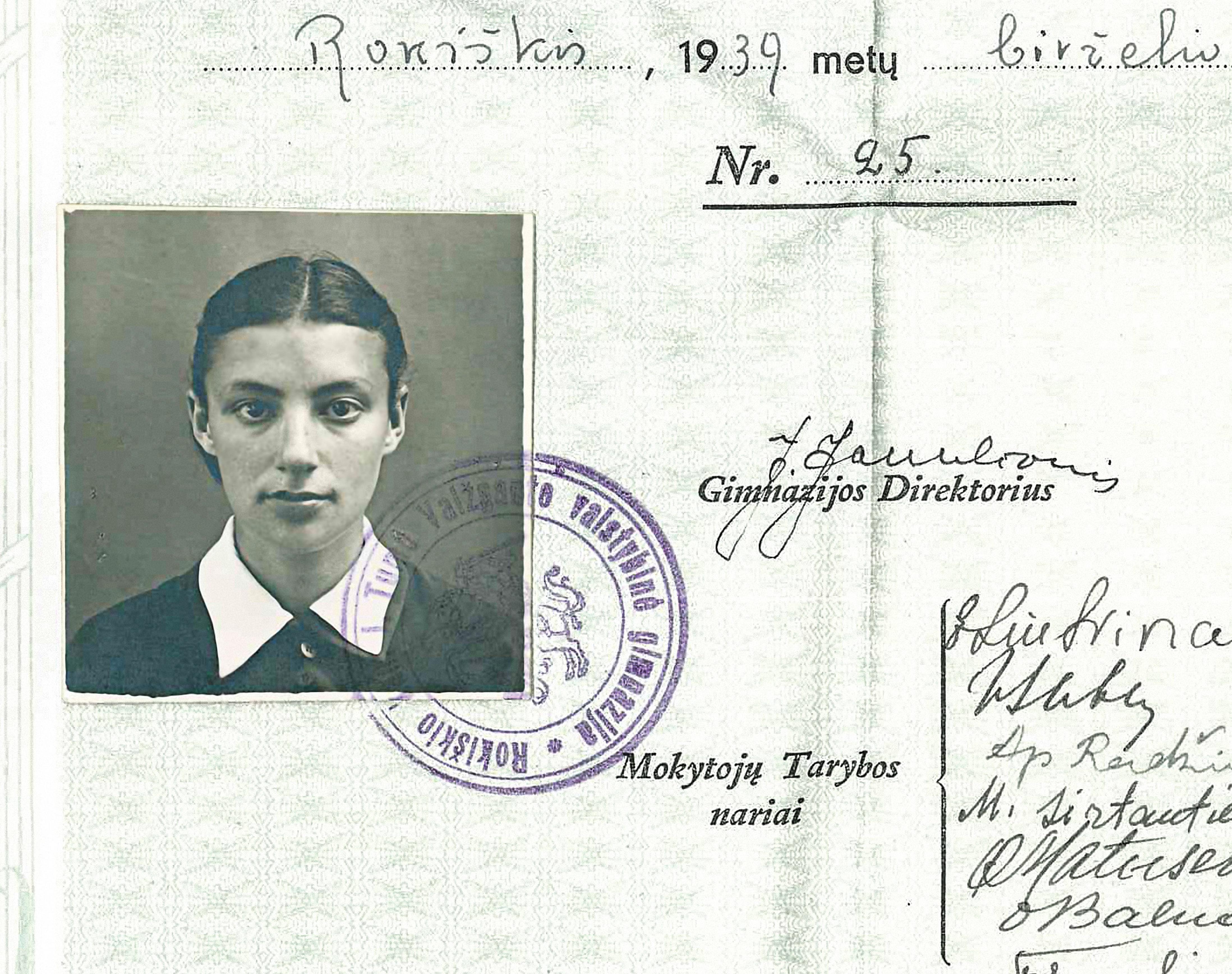 Matilda Olkin school portrait