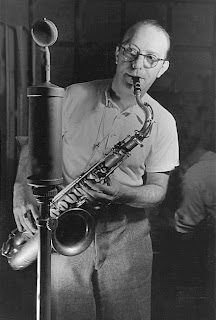 Politically flexible jazz saxophonist