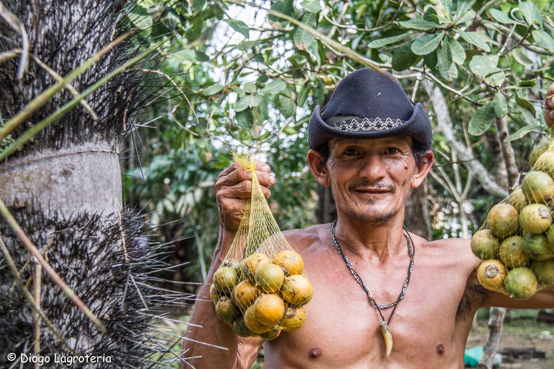 Man Holding Fruit