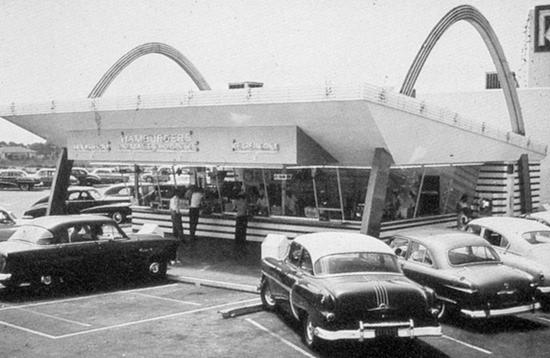 Googie-style McDonald's in Downey, California (1953)
