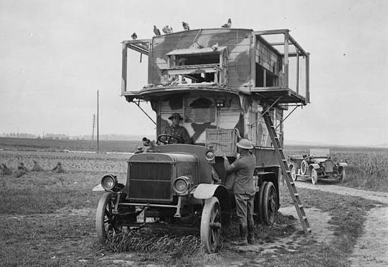 A British army bus