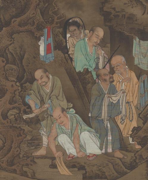 Luohan protect the dogma