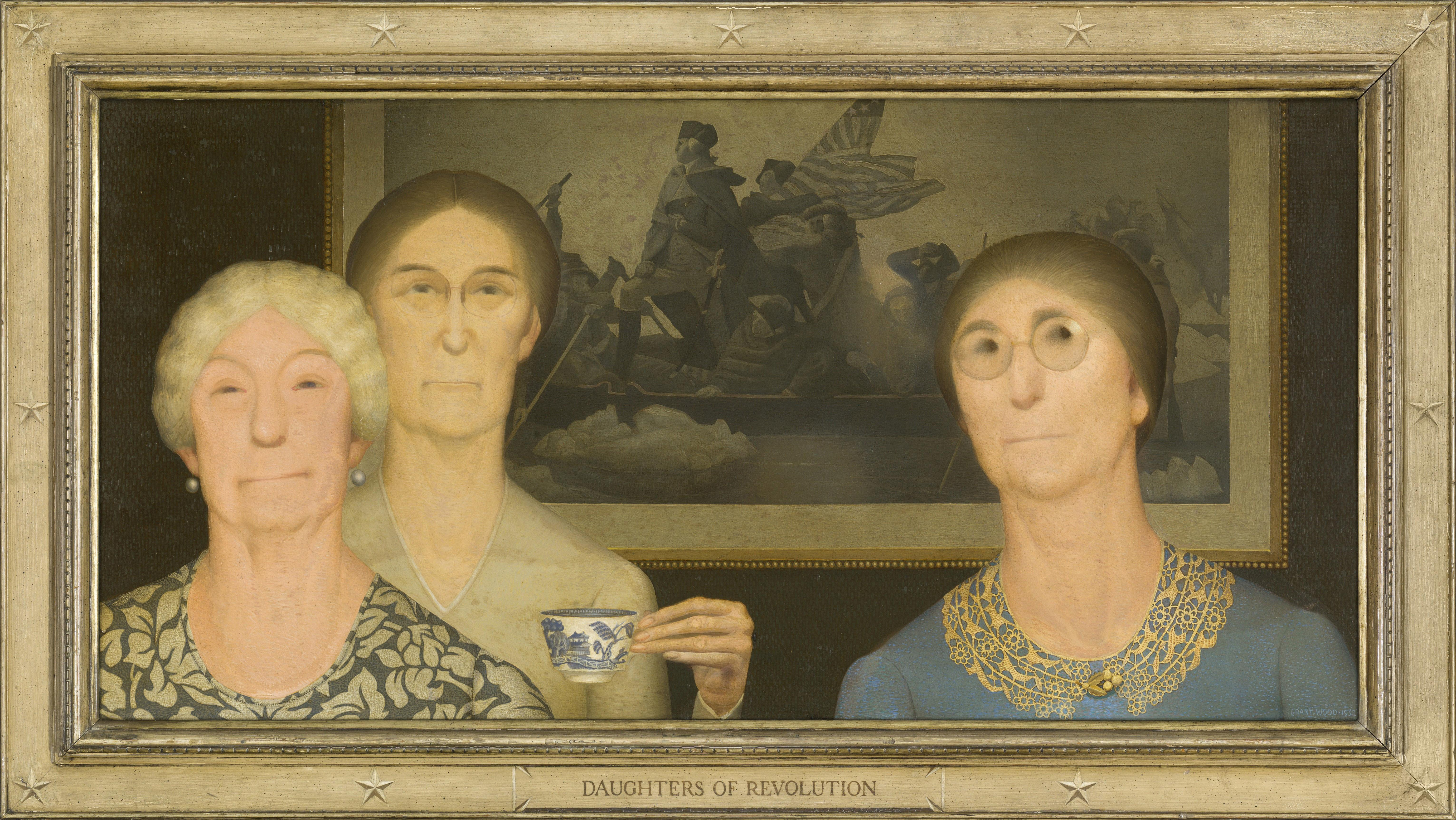 Wood took aim at the Daughters of the American Revolution