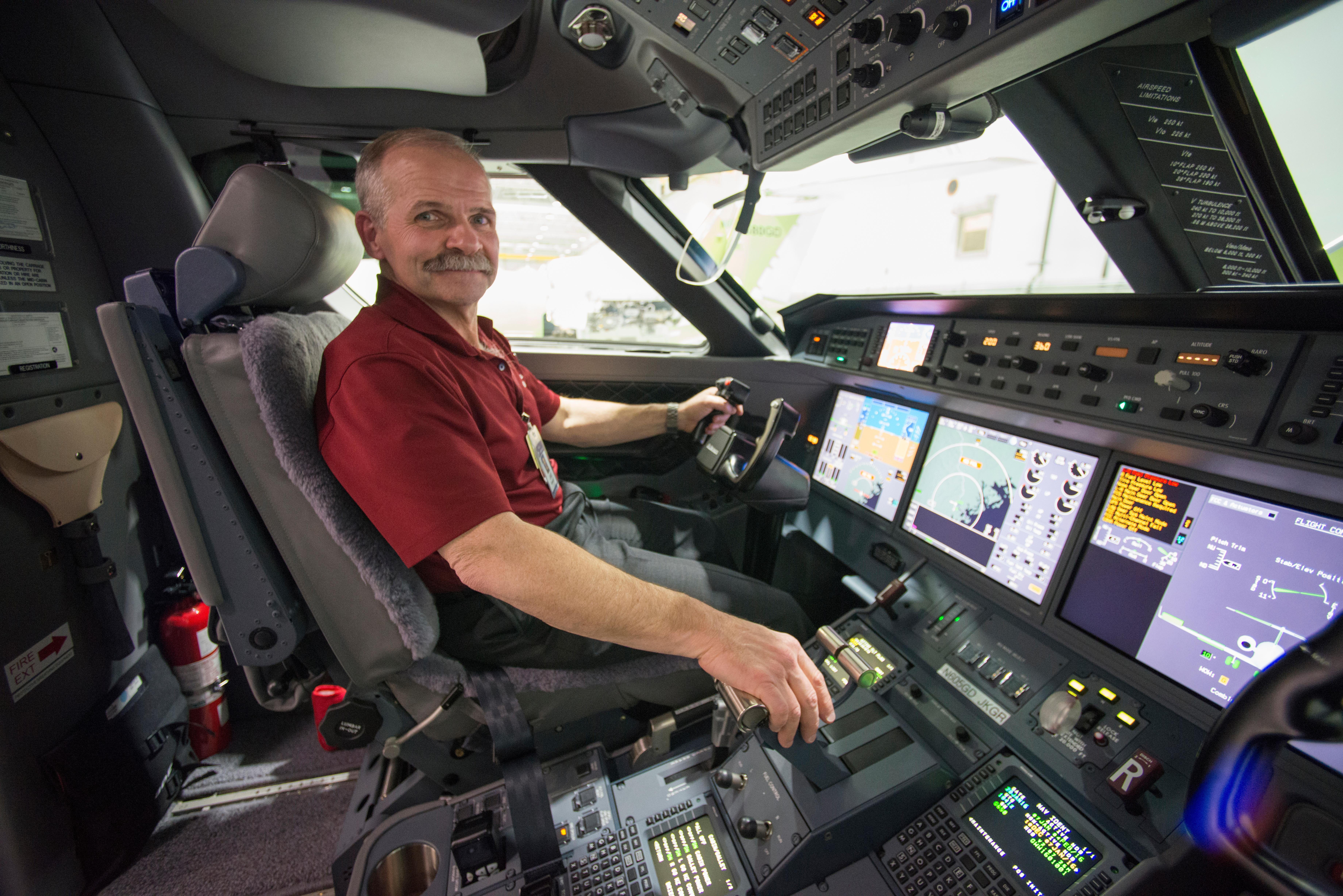Test pilot Jake Howard