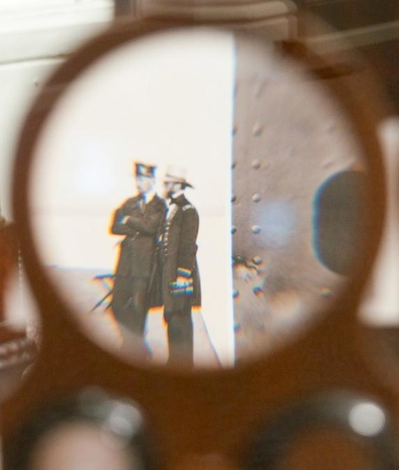 Visitors can peek into personal stereoviewers