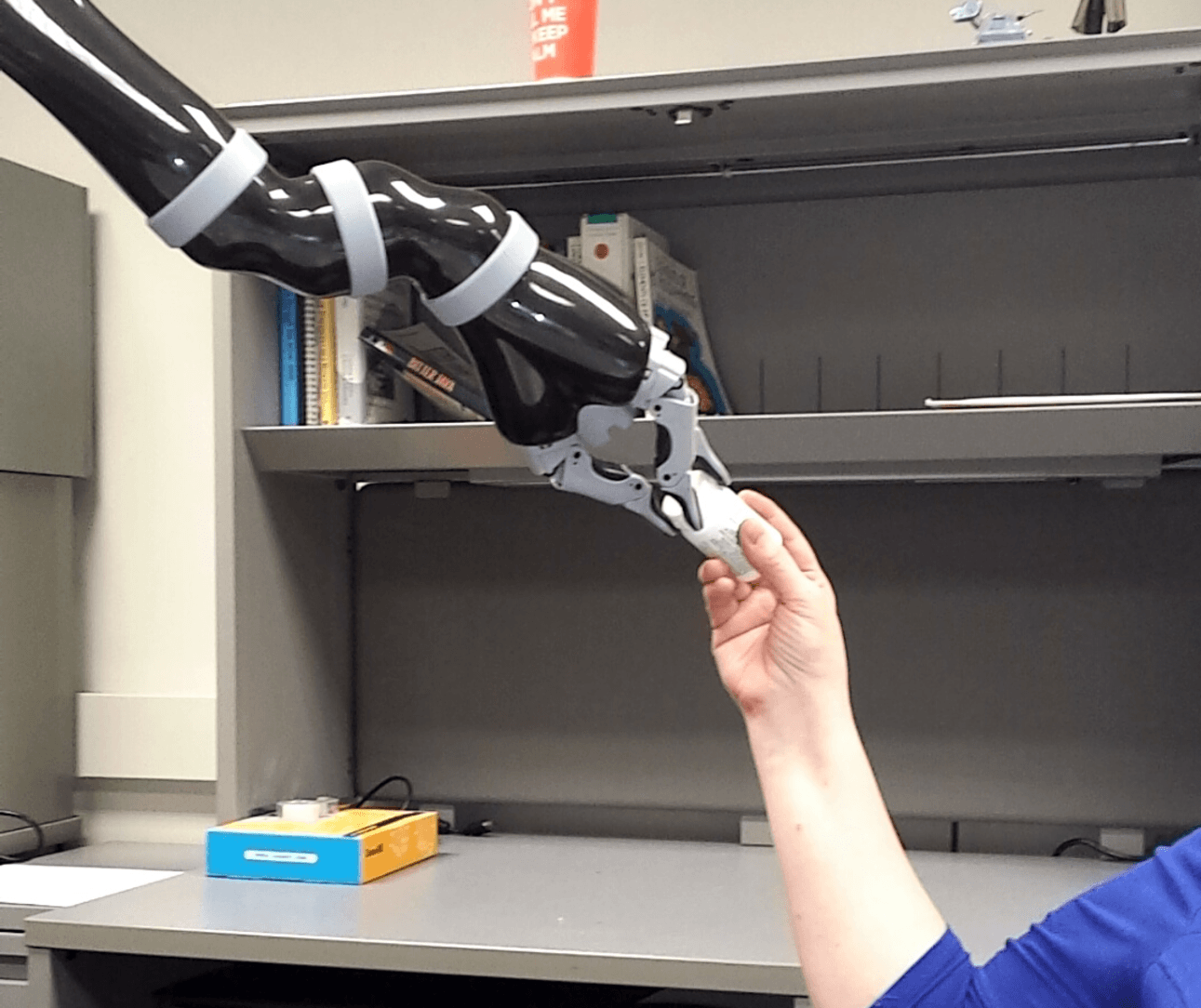 Robots can hand medicine to patients.