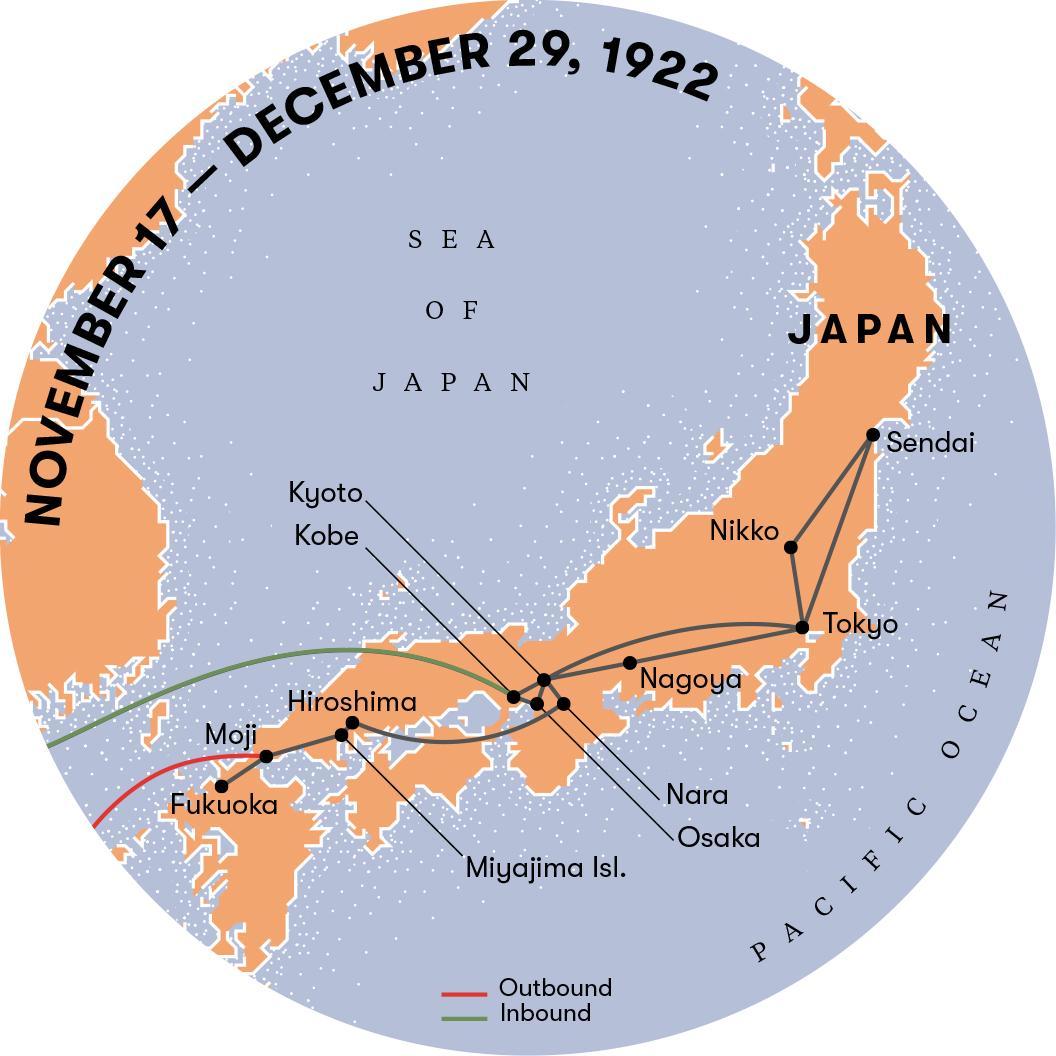 Einstein ficou encantado e perplexo com Suas aventuras no Japão.