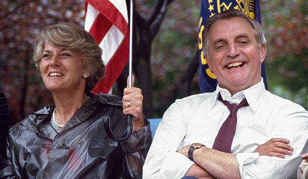 Geraldine Ferraro and Walter Mondale by Diane Walker, 1984