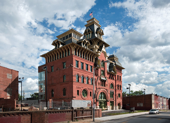 The former American Brewery in Baltimore now houses social-service nonprofit Humanim.