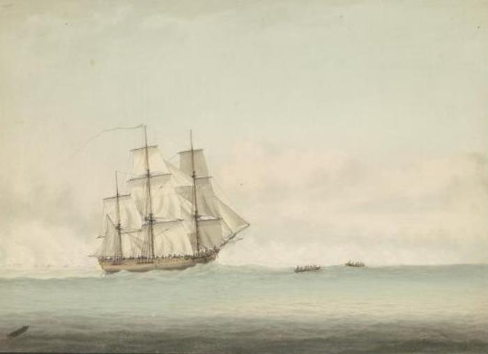 HMS_Endeavour_off_the_coast_of_New_Holland,_by_Samuel_Atkins_c.1794.jpg