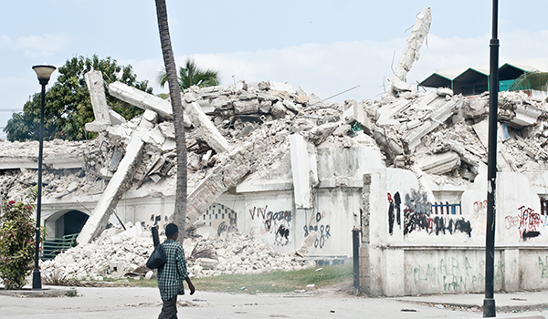 Damage from the 7.0-magnitude earthquake that struck Haiti in January 2010.