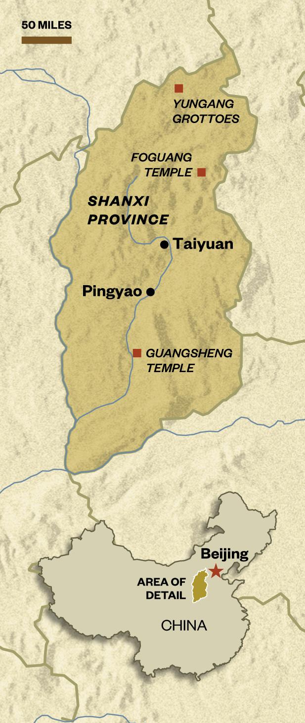 Lin Huiyin and Liang Sicheng map at the North Tomb