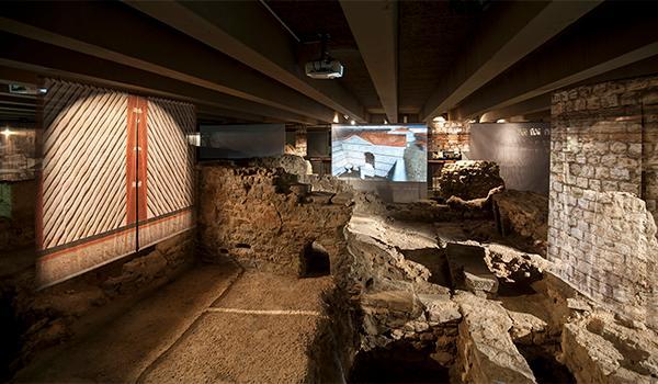 Remains of the archaeological crypt of Ile de la Cité