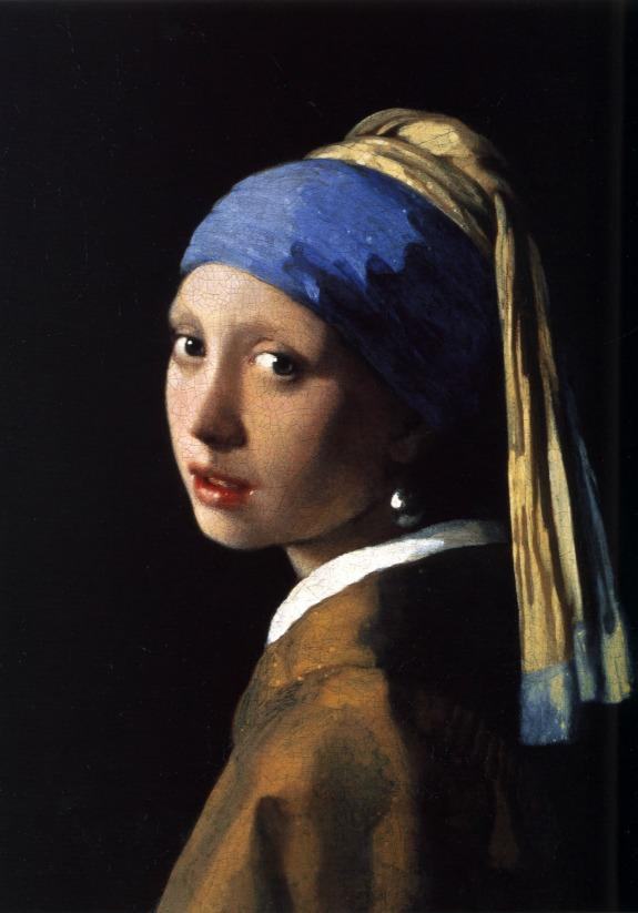 Girl with a Pearl Earring, 1665, Johannes Vermeer.