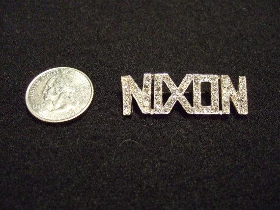 Nixon rhinestone pin, date unknown